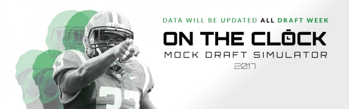 On The Clock 2017 data updated all draft week
