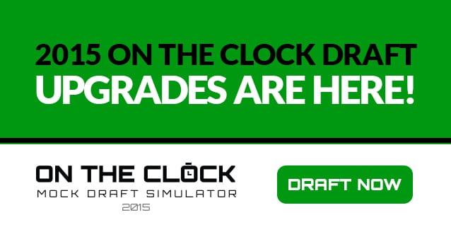 2015 On The Clock updates are here! Draft now!