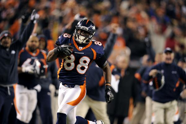 Demaryius Thomas is the best wide receiver to own in dynasty leagues.