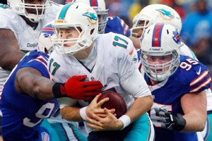 Bills sacked Tannehill 4 times on Sunday