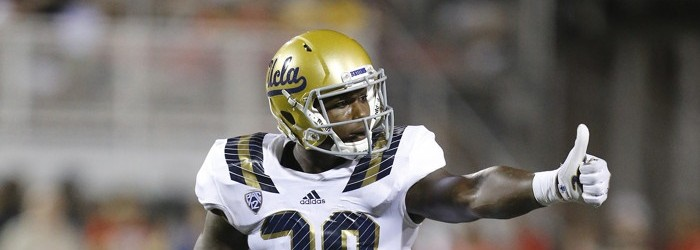 2015 September 12: UCLA linebacker Myles Jack (30) during a game against the UNLV Rebels at Sam Boyd Stadium in Las Vegas, Nevada.  The UCLA Bruins would defeat the UNLV Rebels 37-3.