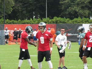 Nick Foles at Eagles Training Camp.