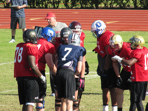 East offense at work led by Collin Klein.