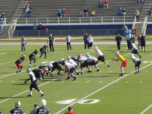 North Senior Bowl practice