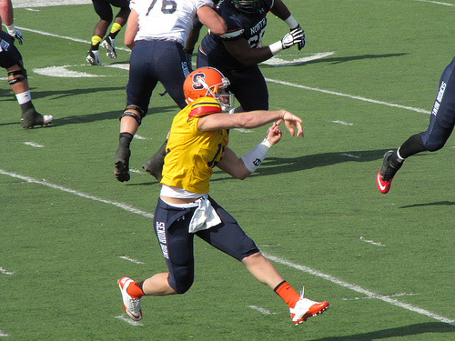 Ryan Nassib at North Senior Bowl practice.