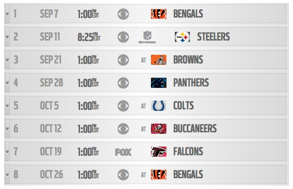 image relating to Redskins Printable Schedule identified as NFL Routine Launch Demonstrates Leagues Legitimate Level of popularity