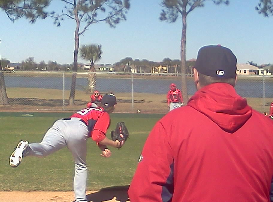 Ross Detwiler with Steve McCatty looking on