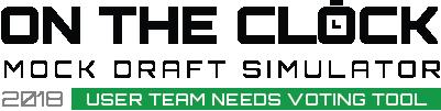 On the Clock - Mock Draft Simulator Team Needs Voting Tool
